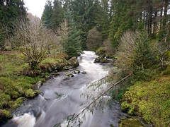 The Water of Ae deep in the Forest of Ae (penlea1954) Tags: uk water speed forest river scotland stream village slow waterfalls shutter waters ae dumfries galloway
