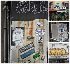 (Danburg Murmur) Tags: windows plants geotagged graffiti sticker mosaic pipes taiwan banana airconditioner delight taipei   legalizeit lmz burglarbars dfk damove demarcolab optimistuey geo:lat=25042813558320162 geo:lon=12155075198413078