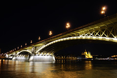 Budapest at night (BaliFotó) Tags: bridge night hungary budapest duna parlament magyarország margithíd margaretbridge