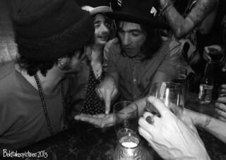 Sami Yaffa & Nigel Mogg // Michael Monroe afterparty // Islington // Dec 2013