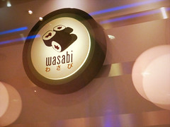Wasabi (mobymotion) Tags: street food seaweed london sign sushi cuisine japanese restaurant rice doorway oxford dining glowing wasabi