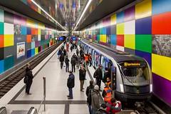 Georg-Brauchle-Ring (Woodpeckar) Tags: color architecture germany underground subway munich münchen bayern publictransit siemens trainstation ubahn u1 c2 mvg eos5d georgbrauchlering ubahnmünchen swm 6701 woodpeckar 5dii