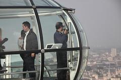 Photographer on the London Eye (Ian Press Photography) Tags: london eye tourism wheel thames river pod energy south bank landmark ferris icon tourist millennium iconic pods edf