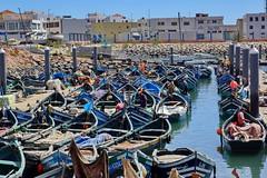 Small fishingboats (DirkVandeVelde ( slowly catching up)) Tags: sea haven port boot boat harbour sony agadir visser maroc fisher marocco afrika bateau marokko afrique schip afric