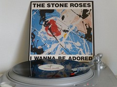The Stone Roses - I Wanna Be Adored (1989) (stillunusual) Tags: manchester artwork vinyl turntable single indie 1989 sleeve iwannabeadored stoneroses madchester thestoneroses