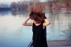 over and over (Teleaga Gabriela) Tags: sea longhair health emotions liberation throw blackdress