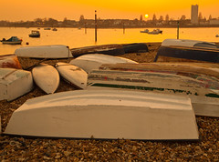 Sunset from Eastney (Mark Dyer @ Island Picture Framing) Tags: sunset sea beach water photography evening photo image picture dyer photograph portsmouth gravel dinghy eastney markdyer markdyerphotographer markdyerphotography islandpictureframing