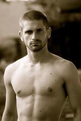 Shirtless_Zaq_B&W (moore.photogs) Tags: shirtless people blackandwhite man male men guy facialhair scruff