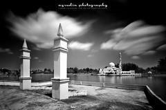 the guardian (azrudin) Tags: panorama cloud art beach water architecture landscape mirror blackwhite mosque malaysia masjid bw110 bw1000 azrudin azrudinphotography