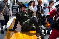 Sir Francis Drake enjoys the time at sea (Pahz) Tags: chicago pirates windy lakemichigan greatlakes navypier tallship bristolrenaissancefaire chicagoillinois tallshipwindy bristolpirates