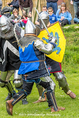 [2014-04-19@13.59.04a] (Untempered Photography) Tags: history costume fight helmet medieval weapon sword knight shield combat armour reenactment skirmish combatant chainmail canonef50mmf14 perioddress platearmour mailarmour untemperedeye canoneos5dmkiii untemperedeyephotography battleheritage glastonburymedievalfayre2014