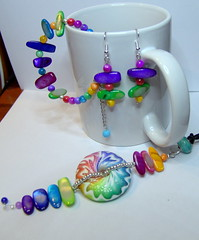 Summer needs color!!! (klio1961) Tags: original colors beautiful arcoiris diy necklace rainbow handmade oneofakind jewelry polymerclay fimo gifts clay bracelet faux earrings imadethis colgantes madebyme beaded authentic imadeit inks handtinted cernit pendants vividcolors pendientes abalorios unico joyas pulseras hechoamano handmadebeads alcoholinks arcillapolimerica focalbeads xantres nicelittlethings adirondackinks kosmimata braxiolia xeiropoiito uniqueproject lentilebeads vraxiolia