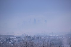 where is Frankfurt? (T.Flat ) Tags: morning schnee winter snow fog germany deutschland nebel hessen frankfurt hiver  neige nebbia allemagne morgen niebla brouillard frankfurtammain frankfurtmain francfort matin morn hesse mgla nvoa bruma hochnebel frankfurtm germanwinter  deutscherwinter w hiverallemand