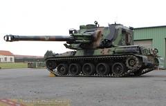 AUF1 avec son canon en position basse (Model-Miniature / Military-Photo-Report) Tags: self canon french 1 photo gun military report mm ra auf amx 155 propelled howitzer 155mm auf1 régiment automoteur modelminiature dartillerie 40ème suippes amxauf1