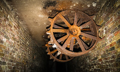 Hanging around (Al Kerr) Tags: wheel canon underground rust steel tunnel bunker 5dm3