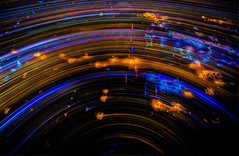 Aerial Shutter Drag-5 (noelfleming) Tags: light night drag photography colorado lafayette trails aerial shutter co inspire drone dji quadcopter