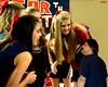 Cheerleaders amused by Holli's little dad (iggy62pop2) Tags: girls sexy happy breasts funny cheerleaders father babe blonde upskirt tall lookingdown bendover giantess heightcomparison shrinkingman minigiantess