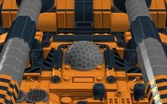 """Goliath"" Land Cruiser (Lee_Barton87) Tags: lego military goliath landcruiser futuristic antiaircraft ldd legotank"
