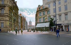Castle Street, 1900s in 2015 (Keithjones84) Tags: liverpool thenandnow merseyside oldliverpool