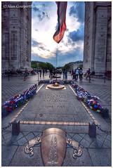 The Eternal Flame at the Arc de Triomphe (alcowp) Tags: paris france tourism monument war flame arcdetriomphe
