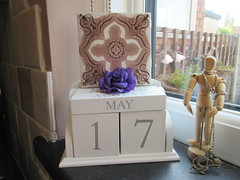 Tuesday, The old wall tile IMG_7631 (tomylees) Tags: morning rose tile spring purple calendar may tuesday essex 17th perpetual 2016