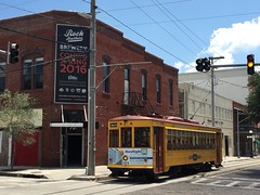 TECO Line in Ybor City (st_asaph) Tags: tampa florida trolley tram streetcar ybor teco hillsborough yborcity