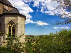 St George Church - Église St-Georges (SergeK ) Tags: sky brick green church landscape belgium belgique bleu paysage eglise iphone sergek iphoneonly