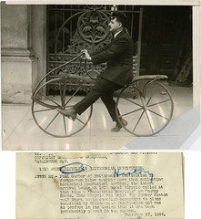 BUSTER KEATON BICYCLE IN SMITHSONIAN - VINTAGE STILL 1927 (foot-passenger) Tags: bicycle busterkeaton 1827 velocipede