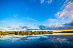 Nice evening (ArtDvU) Tags: sunset summer lake finland landscape evening nice sunny oulu lakescape