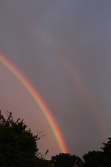 A triple rainbow! (roger_forster) Tags: rainbow rainbows primary secondary tertiary alverstoke gosport hampshire weather storm rain
