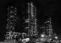infinity complex (pbo31) Tags: sanfrancisco california blackandwhite panorama black color architecture night dark spring construction nikon apartment contemporary infinity towers may large panoramic bayarea southbeach stitched 2016 rinconhill boury pbo31 d810 financialdistrictsouth