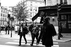 (kinelhu) Tags: street people blackandwhite paris look saint grumpy placide