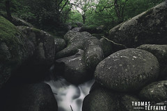 Stone river (Thomas Teffaine Photographie) Tags: wild france water stone forest canon river reflex eau riviere wideangle filter 5d dslr rocher manfrotto hoya sidobre nd500