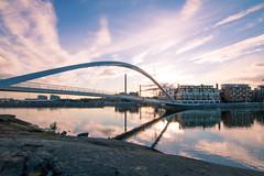 Isoisnsilta (hgis) Tags: bridge sunset sea architecture clouds sunrise suomi finland landscape photography helsinki colorful purple mustikkamaa silta kalasatama isoisnsilta