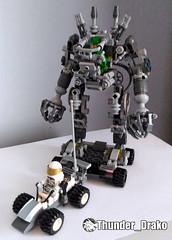 Exo-Suit MOC (Lego set 21109) (Thunder_Drako) Tags: lego moc exosuit exo suit 21109 own creation gun sword classic space