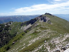 Looking back on Pizzo Deta from the ridge (markhorrell) Tags: walking lazio apennines montiernici