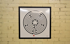 Labyrinth 91/270 (R~P~M) Tags: uk greatbritain england art station train unitedkingdom railway londonunderground labyrinth wallinger enamel stepneygreen vitreousenamel