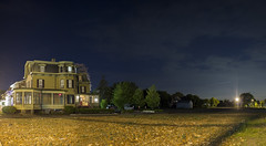 Field of Rubble ( estatik ) Tags: county street new old railroad panorama house st night stars long exposure main tracks nj rr jersey former flemington rubble hunterdon