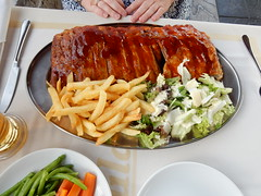 Roulas Rack of Ribs (deltrems) Tags: island greek restaurant salad cafe mediterranean chips greece rack ribs med rhodes lardos rackofribs roulas