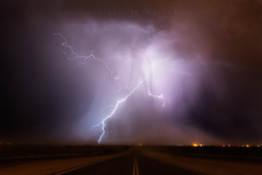 Crashdown (Mike Olbinski Photography) Tags: arizona rain monsoon thunderstorm lightning roads dust stormchasing apachejunction microburst canon1635mm28l canon5dmarkiii lostdutchmanroad 20160627
