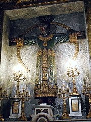 "Crucified Christ, called ""Croce di Lucca"" - wooden and crushed-paper sculpture 16th century - Santa Brigida Church in Naples (* Karl *) Tags: italy christ naples woodensculpture crucified crocedilucca"
