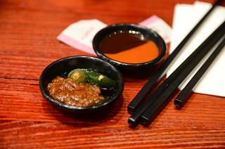 Sambal, fresh green chilli, chilli sauce, hoisin sauce, - Grand BBQ, Target Centre, Melbourne
