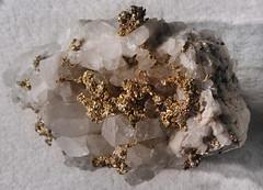 Macro Mondays - Gold - NYC Natural History Museum - Au (ixus960) Tags: macromondays nyc newyork usa naturalhistorymuseum mineral minerals minraux pierre