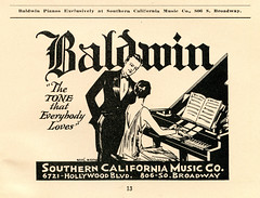 Civic Repertory Theatre of Los Angeles (jericl cat) Tags: playing illustration vintage paper typography design losangeles theatre drawing broadway piano ephemera tuxedo hollywood type civic pianos tux baldwin 30s courting repertory thetonethateeverybodyloves