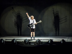 In the spotlight (theGR0WLER) Tags: acdc rock rockorbusttour etihadstadium manchester canon canonpowershotsx50hs angus angusyoung guitar