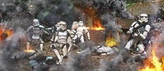 Surrounded by enemy fire. (chevy2who) Tags: 6 black toy star starwars inch action battle figure stormtrooper series wars six hasbro blackseries