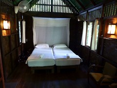 Khao Sok NP (Our Jungle House), Thailand (Jan-2016) 15-006 (MistyTree Adventures) Tags: thailand cabin seasia beds room indoor pillows accommodation khaosok panasoniclumix khaosoknationalpark ourjunglehouse