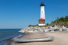 Crisp Point Lighthouse (JGKphotos) Tags: 6d canoneos6d crisppointlighthouse johnkunze michigan upperpeninsula lighthouse