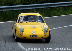 DSC_6606 - Fiat Abarth 1000 Record Monza - 1960 - Brondi Claudio (pietroz) Tags: silver photo foto photos flag historic fotos pietro storico zoccola 21 storiche vernasca pietroz