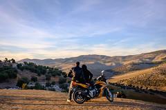 Sunset bikers. (MrJSparks) Tags: travel sunset bike landscape prime spring couple fuji northafrica outdoor dusk candid romance motorbike morocco fez motorcycle biker goldenhour fes fixedlens x100t